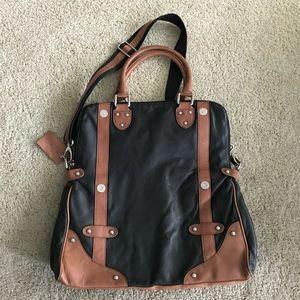 Danier Black and Tan leather handbag